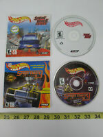 Lot of 2 PC CD-Rom Video Games Hot Wheels Stunt Track Driver 1 & 2 with Booklets