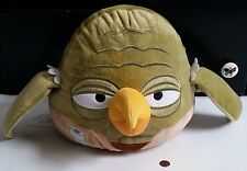 "Angry Birds Star Wars Yoda Plush Pillow Stuffed Animal Toy 12"" x 10"" EXC. COND."