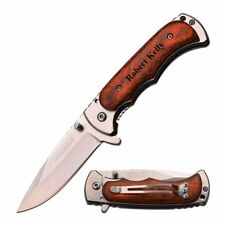 Personalized Quality TAC FORCE Wood Handle Knife