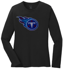 Women's Tennessee Titans Ladies Bling Long Sleeve Shirt T-Shirt S-4XL