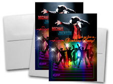 12 Michael Jackson Birthday Invitation Cards (12 White Envelops Included) #1