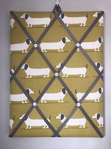 Hand Made Fabric Notice Board In  Fryetts Hound Dog Fabric