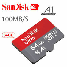 SanDisk Ultra 64GB Class10 A1 micro SD SDXC 100 Mb/s Memory Card Retail,NEW