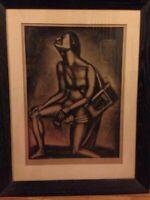 """Georges Rouault 1926 Plate 27:Sunt lacrimal serum""""Life is full of tears""""Miserere"""