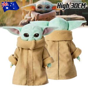 "12"" / 30cm Baby Yoda Plush Toy Wakes Master The Mandalorian Force Doll Kids Gift"