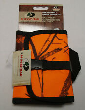 Mossy Oak Shotgun Shell Pouch 10 Round Belt Carrier - Blaze Orange Break Up Camo
