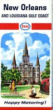 1966 Humble / Esso Road Map: New Orleans and Louisiana Gulf Coast Nos