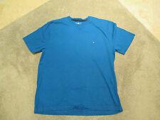 VINTAGE Tommy Hilfiger Shirt Size Adult Large Spell Out Sport Blue Flag 90s
