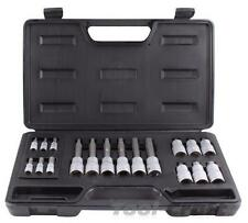 "Yato professional socket bits set, hex 18 pcs, 1/2"" & 1/4"""