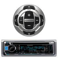 Kenwood KMR-D368 Marine Boat Radio Stereo CD MP3 USB Receiver Smartphone remote