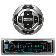 Kenwood KMR-D368 Marine Boat Radio Stereo CD MP3 USB Receiver Smartphone remote