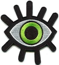 Eye eyeball tattoo wicca occult goth punk retro applique iron-on patch S-1233