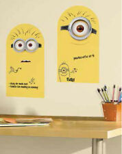 Despicable Me MINIONS dry erase wall stickers 2 MURALS messages pen included
