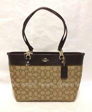 Coach 37118 Signature Small Sophia Tote Bag Purse Light Gold KHAKI BROWN NWT
