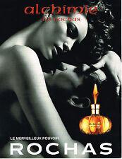 PUBLICITE ADVERTISING 074  1999  ROCHAS  parfum ALCHIMIE