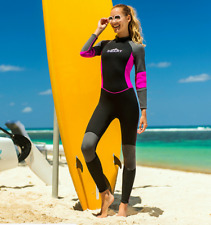 New Women 3mm Neoprene Scuba Snorkeling Warm Wetsuits Free Surf Long Dive Suits