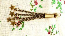 Tassel bronze stars charm pendant jewellery supplies C713