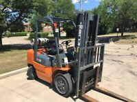 "2012 PNEUMATIC 6,000LB CAP. FORKLIFT 185"" LIFT LPG VERY LOW HOURS RENT READY"
