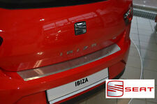 SEAT IBIZA IV 3D FL 2012- Rear Bumper Profiled Protector Stainless Steel Cover
