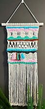 Macrame Weaving Wall Hanging 50cm Wide 128cm Long  NEW
