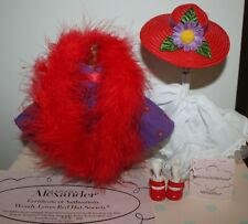 """New Listing8"""" Madame Alexander Ma Red Purple Outfit tagged Wendy Loves The Red Hat Society"""