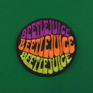 Beetlejuice Iron On Patch 80s Tim Burton Michael Keaton cosy horror movie film