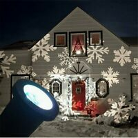 Christmas Snowflake Light Outdoor LED Moving Landscape Laser Projector Light
