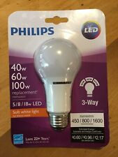 NEW Philips 459180 40/60/100W Equivalent 3 Way A21 LED Light Bulb