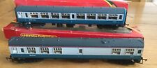 Hornby OO Gauge Model Railway carriages R.921 + R.921 Inter-City Livery.