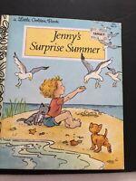 Jenny's Surprise Summer Vintage Children's Little Golden Book ~ Eugenie Hardback