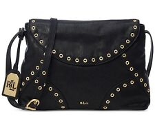 NWT LAUREN Ralph Lauren MORLEY Small Crossbody BLACK handbag ~MSRP $268
