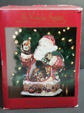 St Nicholas Square Musical Santa Claus Animated Bears JOY TO THE WORLD Christmas