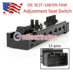 Power Seat Adjustment Control Switch Left Driver Side Front 10 Way For Ford Flex