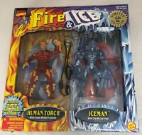 NEW MARVEL COMICS FIRE ICE FIGURE 2-PACK HUMAN TORCH ICEMAN X-MEN FANTASTIC FOUR