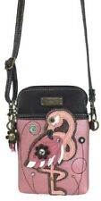 Charming Chala Fancy Flamingo Bird Cell Phone Purse Mini Crossbody Bag