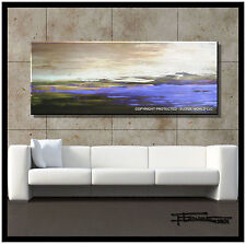 ABSTRACT PAINTING CANVAS WALL ART FRAMED Large Listed by Artist USA ELOISExxx