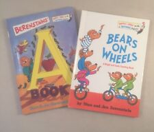 x2 Berenstain Bear on  Wheels A book Bright Early Books for beginning beginners