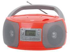 Trevi Stéréo Portable Boombox CD AM FM Radio MP3 AUX-IN SOCKET en rouge