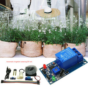 DIY Automatic Drip Irrigation Plant Kit Greenhouse Self Watering Timer System