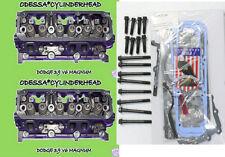 2 CHRYSLER DODGE 3.9 OHV MAGNUM V6 CYLINDER HEADS BOLTS&GASKETS 92-03 REMAN