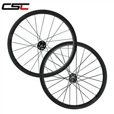 CSC 38mm tubular fixed gear carbon wheels / carbon track wheelset