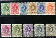 Swaziland 1938 KGVI set complete MLH. SG 28-38a. Sc 27-37.