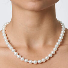Cream Faux Pearl Choker Necklace