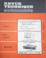 Revue technique NSU PRINZ 1000 L/S C 1000 TTS 110 S SC C 1200 C TT RTA 286 1970
