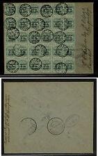 Orange River Colony  54 (30 stamps) censor cover 1902 Transvaal           KL0519