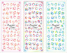 Nail Art Stickers Transfers Decals HOT Series Pink Blue Bubbles 298-300