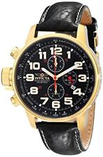 """Invicta Men's 3330 """"Force Collection"""" SS Left-Handed Watch with Leather Band"""