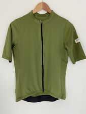 ALBION Men's Green Short Sleeve Cycling Jersey Size L Race Fit