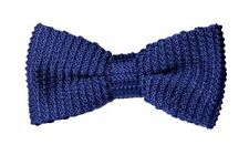 Knit Navy Bow Tie Wedding Bowties for Men Groomsmen Bow Ties Pre-tied for Ball