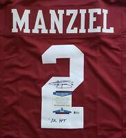 Johnny Manziel HT '12 Texas A&M Signed Auto Maroon XL Jersey BAS Witnessed COA